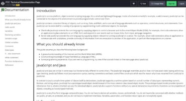 Day 15 - Technical Documentation page on desktop